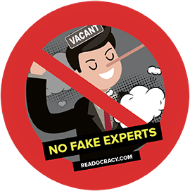 no fake experts sticker